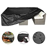 #4: Patio Cover, Essort Outdoor Furniture Lounge Porch Sofa Waterproof Dust Proof Protective Loveseat Covers 315 x 160 x 74 cm