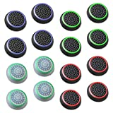 Fosmon Analog Stick Joystick Controller Performance Thumb Grips for PS4, PS3, Xbox One, Xbox 360, Wii U - Assorted (8 Pairs)