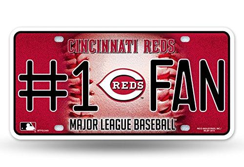 - MLB Cincinnati Reds Bling #1 Fan Metal Auto Tag Plate, 12 x 6-Inch, Silver