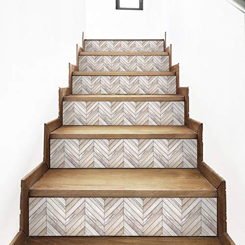 AMAZING WALL Wood Grain Stairs Self Adhesive Decoration Wall - Grains 7.1