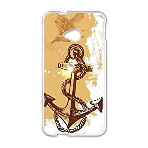 Navy Stripes Anchor For HTC One M7 Phone Cases HTY919736