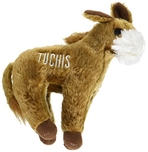 Copa Judaica Chewish Treat Tuchis Donkey Squeak Plush Dog Toy, 7.5 by 6.5-Inch