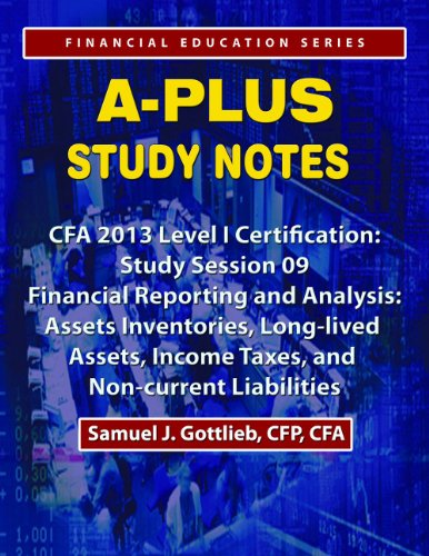 APSN CFA 2013 Level 1 Study Session Assets Inventories, Long-lived Assets, Income Taxes, and Non-current Liabilities