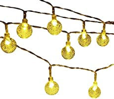 String Lights Battery Powered 16.4ft 50 LED Colored Globe Lights Fairy Twinkle Light Bulb for Garden Patio Party Wedding...