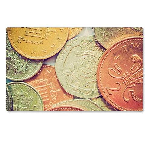 Luxlady Natural Rubber Large Table Mat Image Id 27611021 Vintage Looking Range Of British Pound Coins Uk Currency