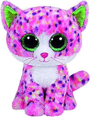 TY Baby Girl Cuddly Toy Sophie Pink Cat Pink 15 cm Ty Beanie Boo - Sophie Cat 36189