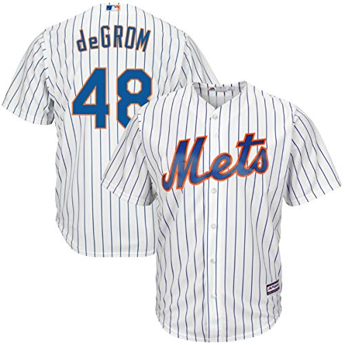 Men's New York Mets #48 Jacob deGrom Cool Base Player Jersey White