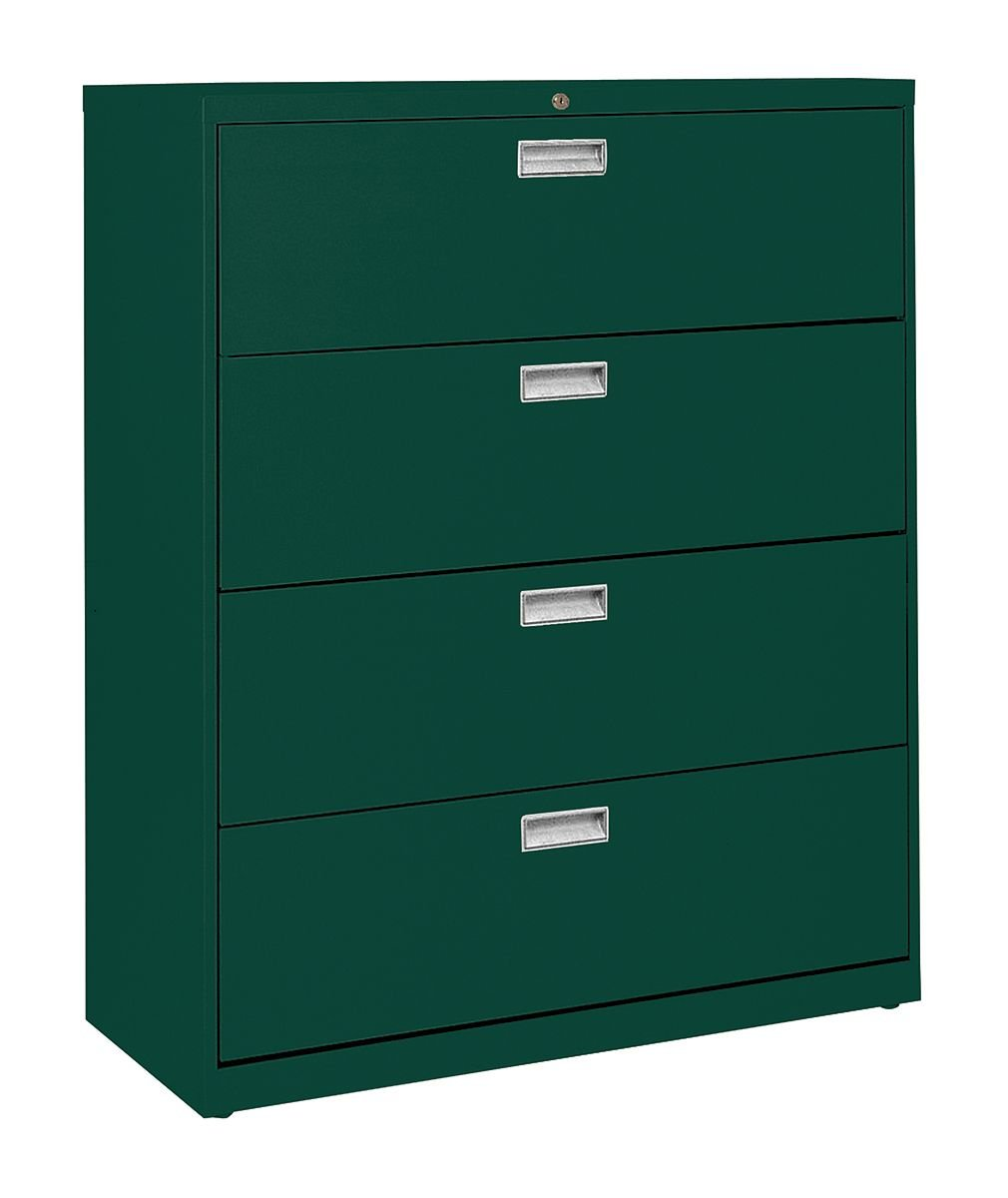 Green File Cabinet Amazoncom Sandusky Lee Lf6a424 09 600 Series 4 Drawer Lateral