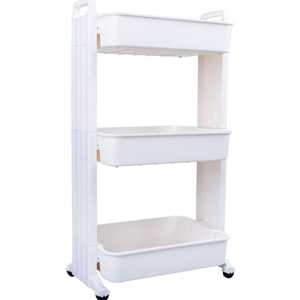 WangYi シェルフ- モダンなマルチ階のバスルームフロアラック、自宅のベッドルームリムーバブルストレージラック (Color : White, Size : 48x86x31cm) B07T9PDMBZ White 48x86x31cm