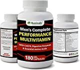 Menâs Complete Performance Multivitamin For Active Men, Proprietary Blend With CoQ10, Digestive Enzymes, & Essential Amino Acids, Made In The USA, 180 Count Review