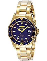 Invicta Mens 8937 Pro Diver 18k Gold Ion-Plated Bracelet Watch