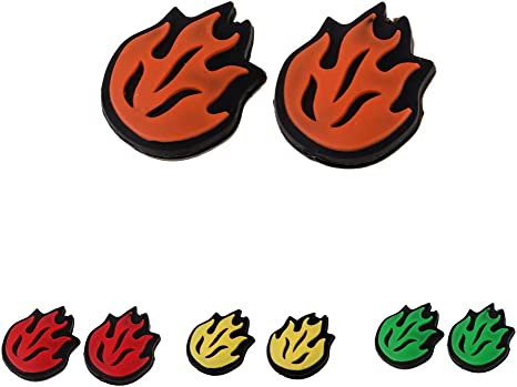 simhoa 2Pcs//Set Flame Fire Tennis Shock Absorber Racquet Racket Vibration Dampeners
