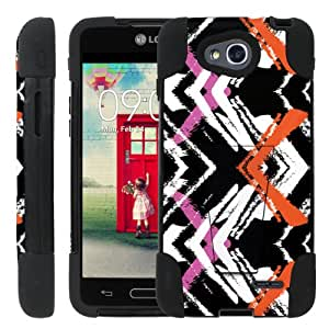 [ManiaGear] Rugged Armor-Stand Design Image Protect Case (Zip Color Line) for LG Optimus L90