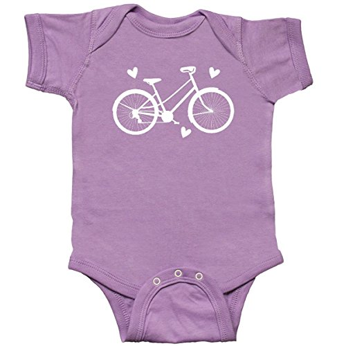 inktastic Bicycle Cycling Bike Lover Infant Creeper 6 Months Lavender