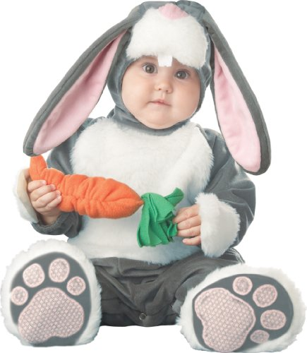 Grey, White and Pink Baby Bunny Costume for Easter