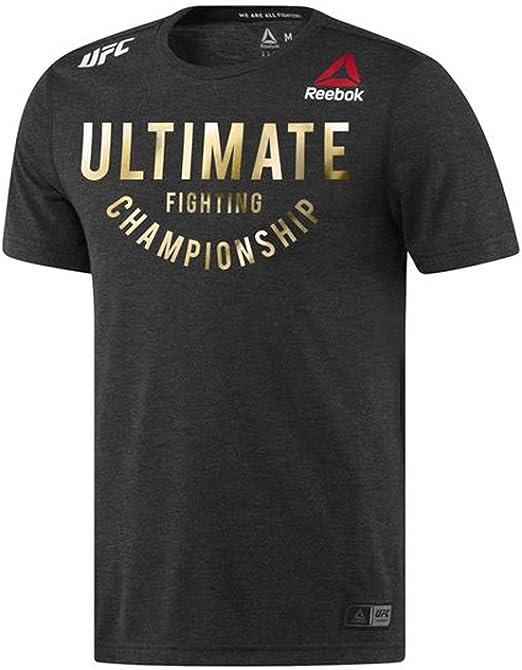 Reebok Mens UFC Fight Night Short Sleeve Jersey Tee