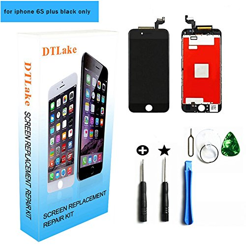 iphone 6s plus replacement,For iPhone 6S plus 5.5 inch LCD Replacement screen with Touch Screen Digitizer Fram Assembly Full Set + free Tools (black)