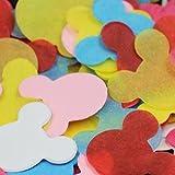 【EDEN】 ミッキー 紙吹雪 レインボー MIX ( ピンク ホワイト イエロー ブルー レッド スキンピンク ライトピンク 7色 ) 約1500枚 (10~15人分) [E119]
