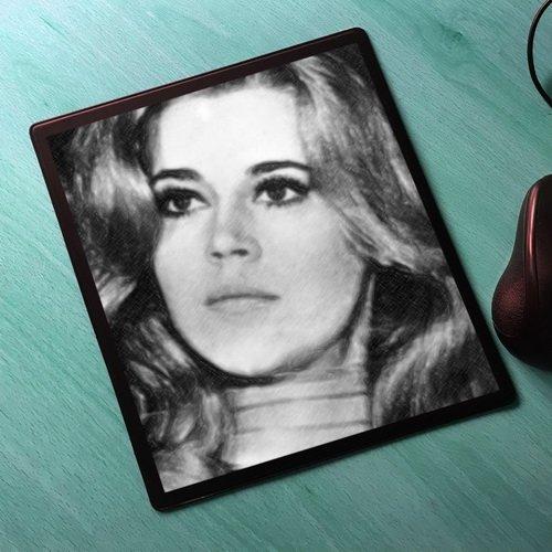 Seasons Jane Fonda - Original Art Mouse Mat #js006