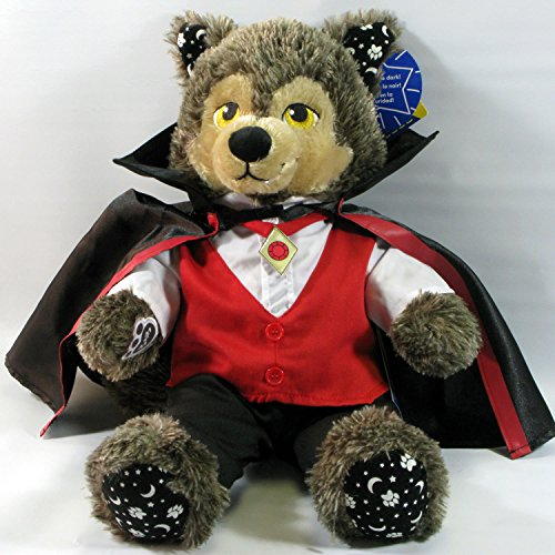 Build A Bear Werewolf Howl-o-Ween Holloween Plush in Vampire 3 Piece Costume set (Werewolf Outfits Halloween)
