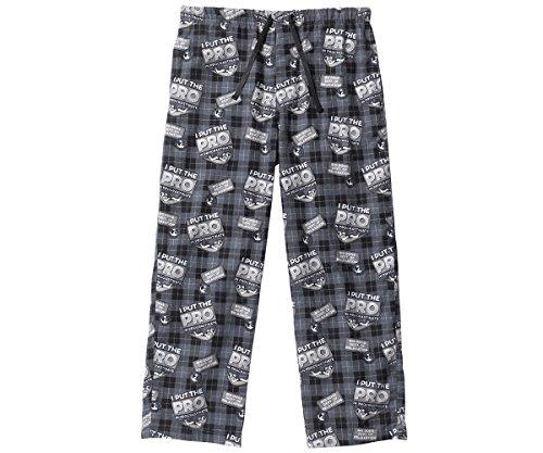 Big Dog Lounge Pants (Big Dogs Procrastinate Flannel Lounge Pant M Black)
