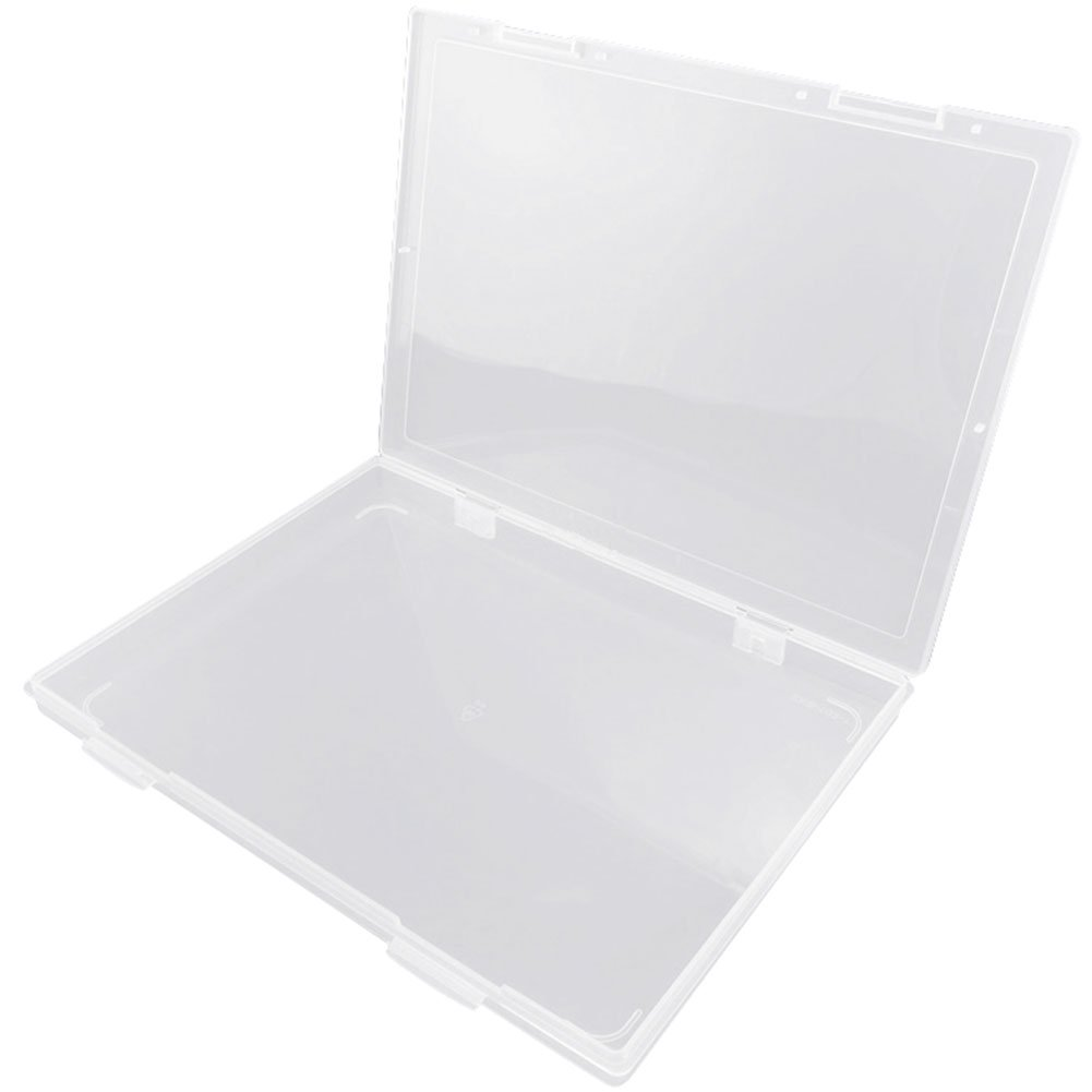 Frjjthchy Clear Plastic A4 file Box Portable for Home Office School Document Jewelry Storage Case
