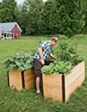 Cedar Keyhole Elevated Raised Bed Garden Integrated Composter
