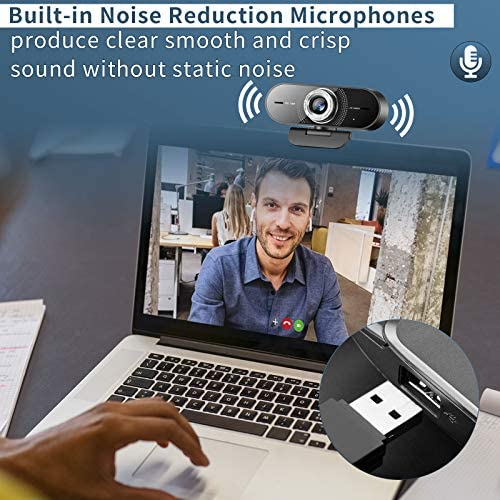 1080P Computer Camera with Microphone,Web Camera with Wide Angle for Conferencing/Online Teaching/Meeting,Low-Light Correction and Manual Focus Webcam for PC/Laptop/Desktop