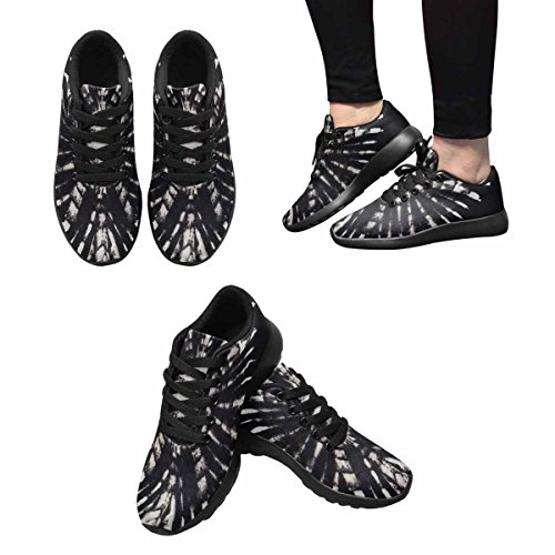 Interestprint Mujeres Casual Soft Sports Road Running Zapatos Para Caminar Tie Dye Background Multi 1