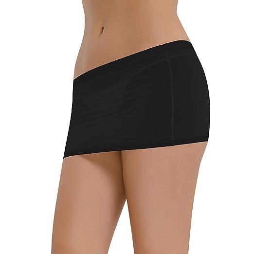 4c34dc0b9e4a2 iiniim Women's Sheer Mini Skirt Party Night Club Lingerie Clubwear Black  One Size
