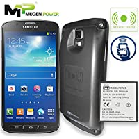 Mugen Power Samsung Galaxy S4 Active Double Juice Support Wireless Charge NFC Android Pay Safety 5500mAh Extended battery Non-Slip Better Hand Grip Design Back Cover (AT&T I537 i9295)