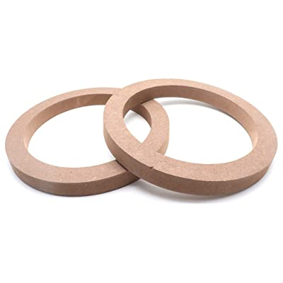 "AUTUT 2pcs Universal Wooden MDF Speaker Spacer Rings 6.5"" Dia: Automotive"