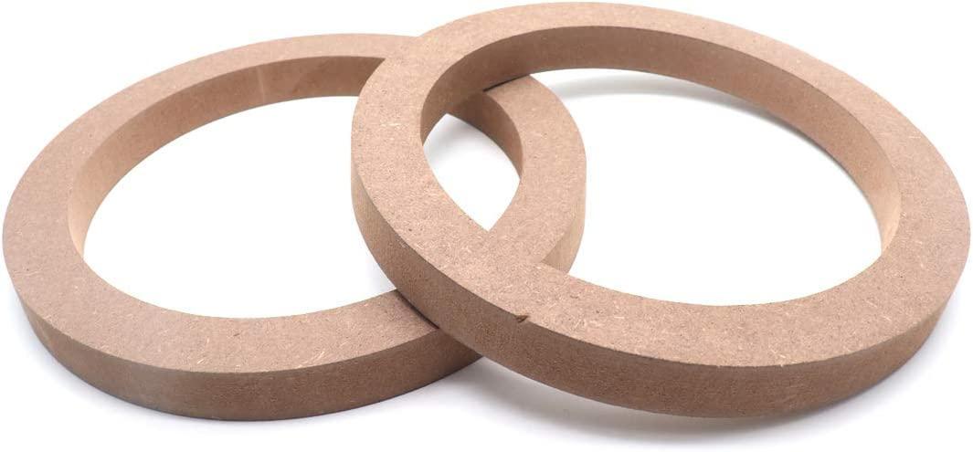 4 MDF SPEAKER RINGS SPACER 6.5 IN CARPET WOOD 3//4 FIBERGLASS RING-065CBK