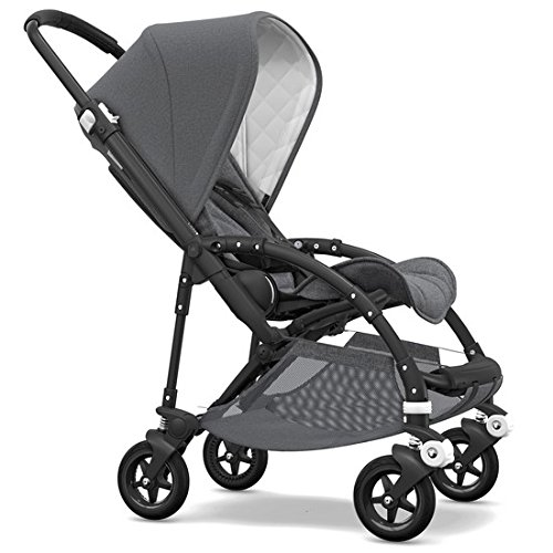 (Bugaboo Bee5 Classic Complete Special-Edition Stroller, Black/Grey Mélange - Compact, Foldable Stroller for Travel and Urban Life)