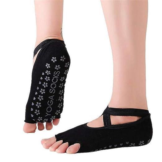 Calcetines De Yoga para Mujeres con Agarres Calcetines ...