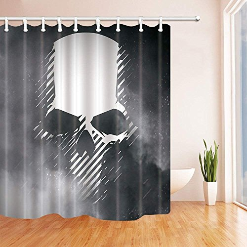 CdHBH Skull in the Fog Shower Curtain in