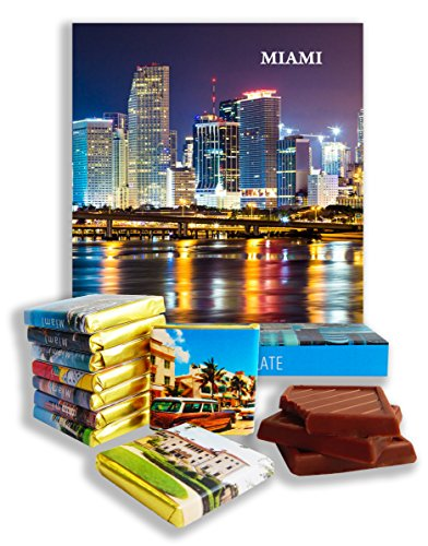 DA CHOCOLATE Candy Souvenir MIAMI Chocolate Gift Set 5x5in 1 box (Night - Mall Miami Florida