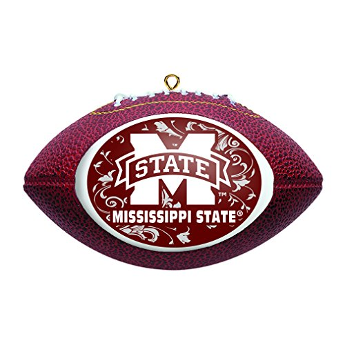Boelter Brands NCAA Mississippi State Bulldogs Replica Football Ornament