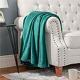 Bedsure Fleece Blanket Throw Blanket Emerald Green