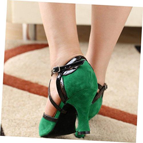 misu Damen Tanzschuhe Damen Tanzschuhe grün misu grün fPgqgB5