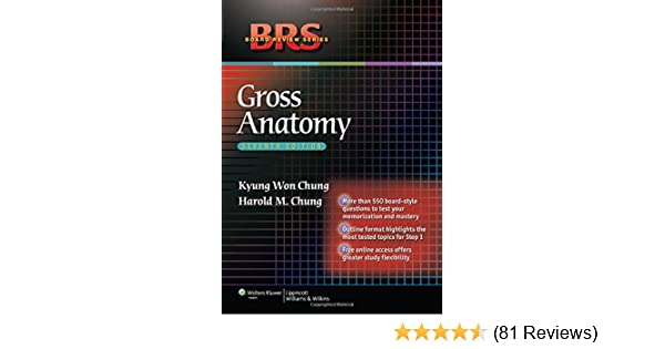 Brs Gross Anatomy Board Review Series 9781605477459 Medicine