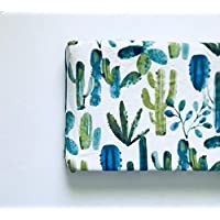 Changing Pad Cover - Blue Watercolor Cactus