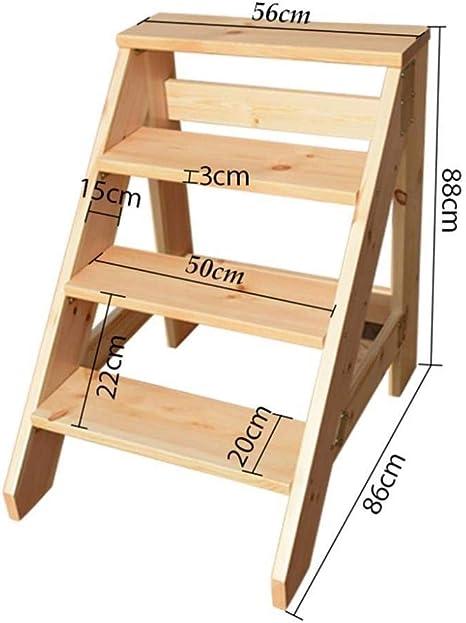 XITER Escalera de Madera Taburete Escaleras de Servicio Pesado Estante Pedal Ancho Escalera de peldaños: Amazon.es: Hogar
