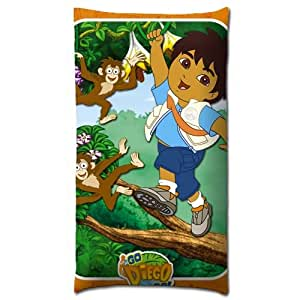 Softer zippered prints bed pillow shells case for Go diego go bedding