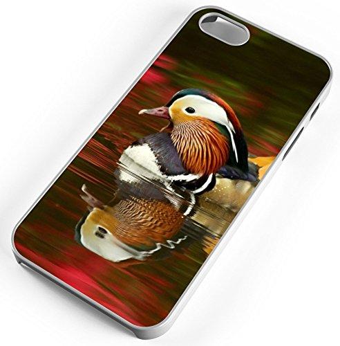 iPhone 7 Case Mandarin Duck Isabella Plantation Water Azalea Customizable TYD Designs in White Plastic ()