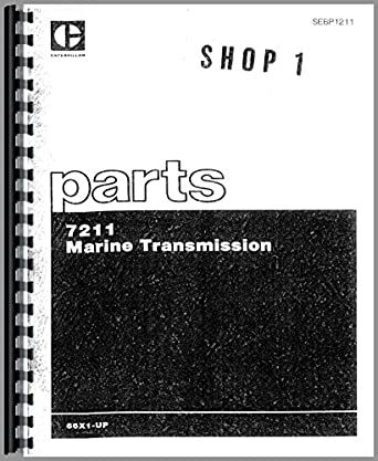 Caterpillar 7211 Marine Transmission Parts Manual