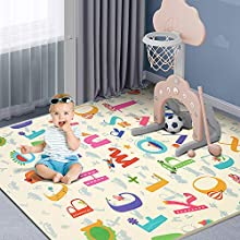 Baby Puzzle Play Mat Portable Splicing Crawling Mat Waterproof Extra Thick Foam Playmat Non-Slip Durable Rebound Puzzle Mat Play Mat for Infants, Toddlers, Kids