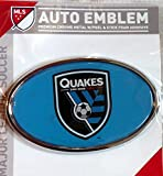 San Jose Earthquakes Quakes Raised Metal Domed Oval Color Chrome Auto Emblem Decal MLS Soccer Football Club