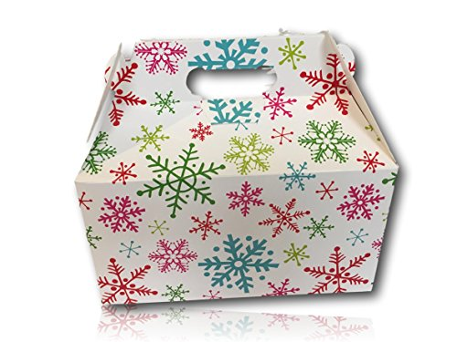 Limited Edition Christmas Holiday Gift Package by AtHomePlus (34 Count) --Perfect Present for Family, Friends, or Office!! (Bright Snowflakes)