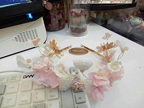MeeTHan Pink Bow Flower Crown Headband set : S15 (Pink-M) (Yoshi Yoshi By Pj)